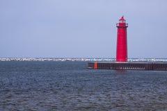 Muskegon Pier-Leuchtturm Lizenzfreie Stockfotos
