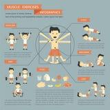 Muskelövningar Arkivbild