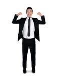 Muskel för visning för affärsman arkivbild