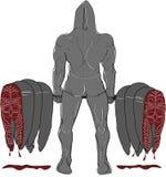 Muskel-Haifisch-Rückseite Stockfoto