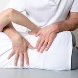 Muskelgewebemassage stockfoto