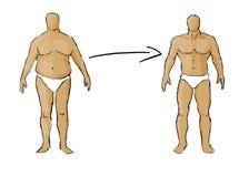 Muskelgewinnung - zu passen Fett Stockfotografie
