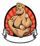 Muskelkroppsbyggare stock illustrationer