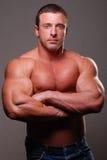 Muskelmanligmodell royaltyfria bilder