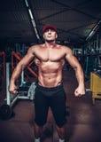 Muskelmann, der aufwirft Lizenzfreies Stockbild