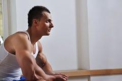 Muskelmannaufstellung Lizenzfreie Stockfotografie