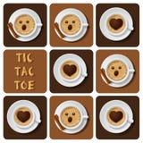 Muskelryckning-TAC-tå av cappuccino Royaltyfri Illustrationer