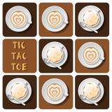 Muskelryckning-TAC-tå av latte stock illustrationer