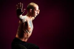 Muskelspänning Fotografering för Bildbyråer