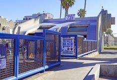 Muskelstrand på den Venedig stranden Kalifornien, USA Arkivfoto