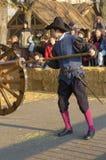 Musketör på Carnaval av Escalade Arkivbilder