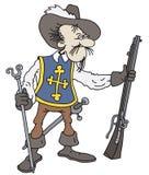 musketeer stock de ilustración