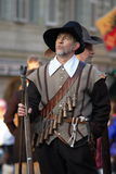 Musketeer at  Carnaval of Escalade Royalty Free Stock Photo