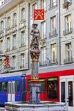 Musketeer fountain in Bern in Switzerland Stock Image