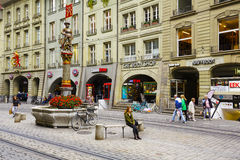 Musketeer fountain in Bern Royalty Free Stock Photography