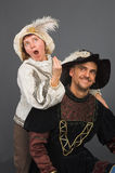 The musketeer and its muse Royalty Free Stock Photo