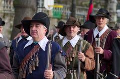 Musketeer på Carnaval av Escalade Royaltyfri Bild