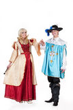Musketeer And Queen Stock Image