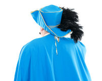 Musketeer in turquoise blue uniform Stock Photos