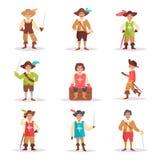 musketeer vektor cartoon royaltyfri illustrationer