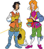 Musketeer and the viscount Royalty Free Stock Photography