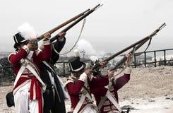 musketeerspom royaltyfri fotografi
