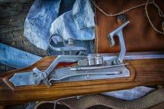 Musketenfensterladen Stockfotos