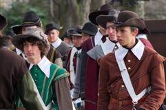 Musketier bei Carnaval von Escalade Stockfoto