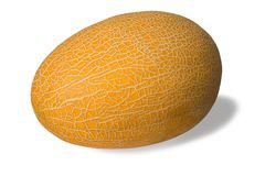 Muskmelon on white Stock Photo