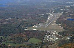 Muskoka Airport, aerial. Aerial view of the Muskoka Airport located south of Muskoka  Ontario, Canada Royalty Free Stock Photography