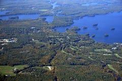 Muskoka Beach, aerial. Aerial view of a golf course near Muskoka Beach, Ontario  Canada Royalty Free Stock Images