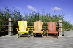 Muskoka Chairs Royalty Free Stock Image
