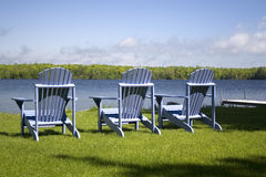Muskoka chairs Stock Photography