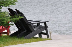 Muskoka Cottage Chairs Royalty Free Stock Photos