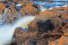 Muskoka High Falls Long Exposure. Long exposure, water blur image of Muskoka High Falls. The waterfall is located in Bracebridge, Ontario, Canada Royalty Free Stock Photography