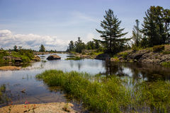 Muskoka Landscape. Landscape over a lake in Muskoka Stock Image