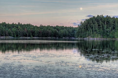 Muskoka Moon Rise Stock Photo