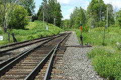 Muskoka Rail Track Stock Photography