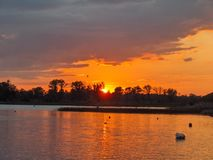 Muskoka Sunset Royalty Free Stock Photography