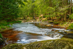 Muskoka Waterfall Pond Stock Photos