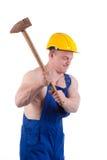muskulös arbetare Arkivfoto