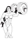 muskulös flicka Royaltyfri Fotografi