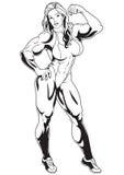 muskulös flicka Royaltyfri Foto