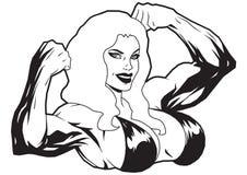 Muskulös flicka i bikini Royaltyfri Foto