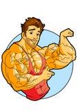 Muskulös kroppsbyggare Royaltyfri Bild