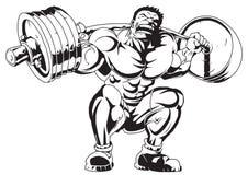 Muskulös kroppsbyggare i utbildning Royaltyfria Bilder