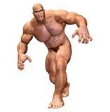 muskulös mänsklig man för huvuddel Royaltyfria Foton