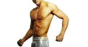 Muskulös male torso Royaltyfria Foton