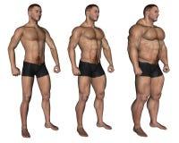 muskulös man Arkivbilder