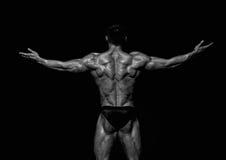 Muskulös man   Arkivbild